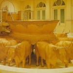 The baptistry of the Salt Lake Temple