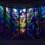 a stained glass of the Resurrection