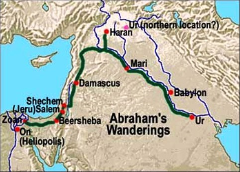 Where the patriarch Abraham went