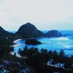 Along the coast of American Samoa, at dusk