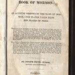 1830 Title Page for B of M