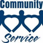 "A logo for ""community service"""