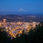 Portland, Oregon, at night