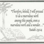 Isaiah 29's marvelous work and worker