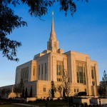 The temple in Ogden, rededicated today.