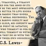 Lewis quote on Tyranny