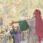 Lehi sermonizing at Jerusalem