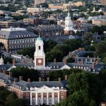 A view of Harvard from slightly above