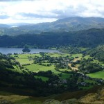 A view of the village and lake of Grasmere