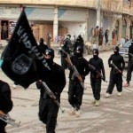 IS fighters in Raqqa