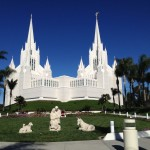 The San Diego Temple with nativity scene
