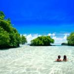 On Vavau Beach in Samoa