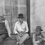 Three Sharecroppers, by Walker Evans