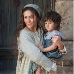 Mary with her child, a still from the LDS movie