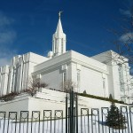 The temple on the Bountiful bench