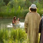John and Jesus in the Jordan near Jericho to the east of Jerusalem in Judea