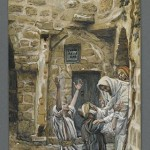 Tissot in Capernaum: Two blind men with Jesus