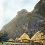 A Samoan village at the end of the nineteenth century