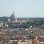 Vatican City from a distance