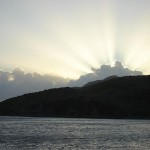 Dawn over St. Kitts.