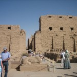 At the entrance to Karnak