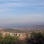 Kineret in the distance, from the Upper Galilean hills