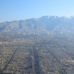 Tehran, with mountains