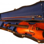 a violin in its open case