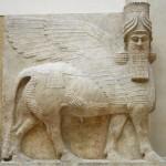 A Mesopotamian winged bull