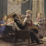 Family in a drawing room