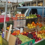A fruit stand, with other stuff.