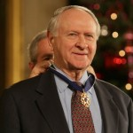 William Safire receives the Presidential Medal of Freedom