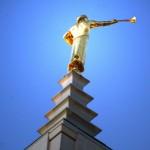 The LA Temple Moroni