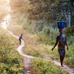 Women getting water in Africa