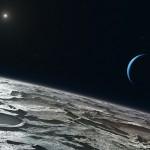 Triton, Neptune, and Sun