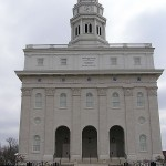 the rebuilt Nauvoo temple, from the front