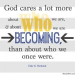 What God cares about