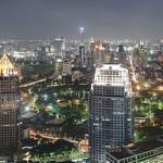 A night view of Bangkok