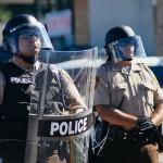 Ferguson with riot gear