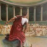 Marcus Tullius Cicero before the Roman Senate