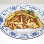 an omelet on a plate