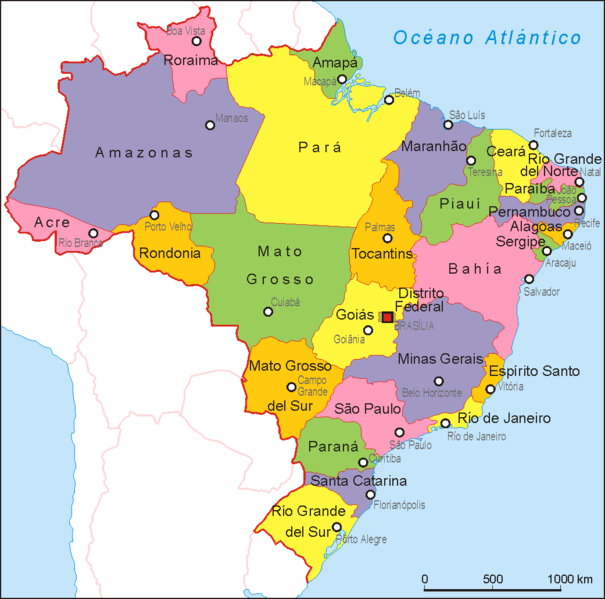Pioneers In Brazil The Kilometer Journey From Manaus To The - Brazil political map