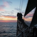 Sunrise at sea