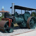 An early steam roller