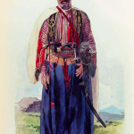 A Yezidi man in traditional attire
