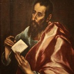 A portrait of Paul by El Greco