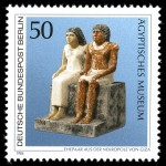 German stamp of seated Egyptian couple