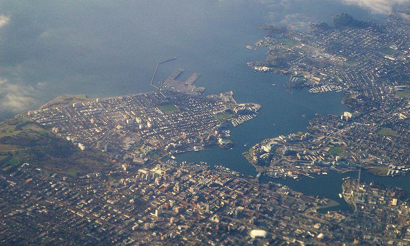 Aerial view of Victoria BC, Canada