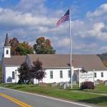 A church in rural New York