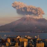 Mount Sakurajima erupting